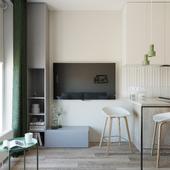 simple tiny apartment