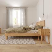 Визуализация спальни в скандинавском стиле
