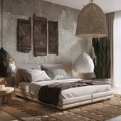 Ethnic bedroom. Reference work inspired by Maksim Mironov