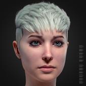 Blonde girl, portrait.