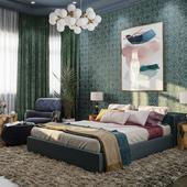 Интерьер спальни для молодой семьи