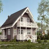 3D визуализация загородного домика