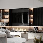 """Design project of apartment """"Winter escape"""""""
