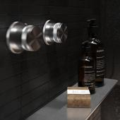Black bathroom for bachelor