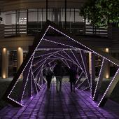 Арка тоннель с подсветкой