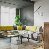 YELLOW breathe studio (living room and kitchen)