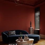 Визуализация кабинета в квартире старого фонда