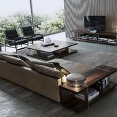 """Интерьер с мягкой мебелью от бренда """"Poliform"""" (сделано по референсу)"""