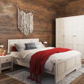Визуализация мебели для спальни в интерьере заказчика