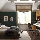 Дизайн интерьера детской комнаты для двух мальчиков.
