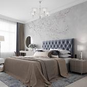 спальня голубая