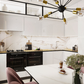 Кухня и санузлы в двухкомнатной квартире