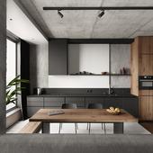 Кухня-гостиная(сделано по референсу)