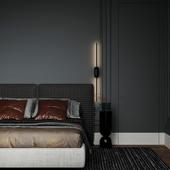 Фрагмент визуализации спальной комнаты