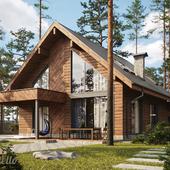 Проект жилого дома из бруса