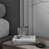 """Bedroom from the project """"gray-white"""""""