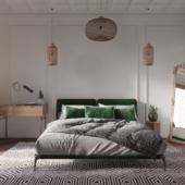 3D визуализация спальни