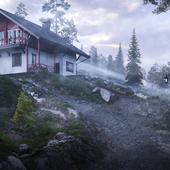 Концепт загородного дома в Норвегии