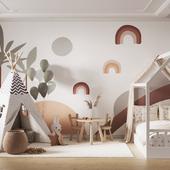 Визуализация интерьера детской комнаты для студии интерьерного дизайна VIVID HOME