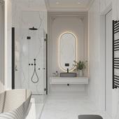 Neoclassic bathroom .