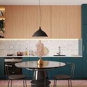 Визуализация кухни для студии интерьерного дизайна VIVID HOME