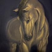 Картина «Доверие» Пастель 65х50 см