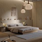 Wooden style bedroom