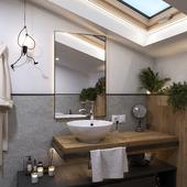 Bathroom with flowers