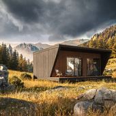 Tiny house in the mountain