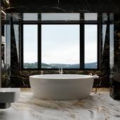 Роскошная ванная комната пентхауса.