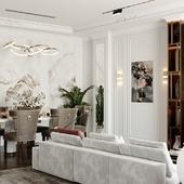 living room, kazakh style