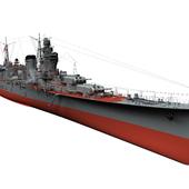 """Легкий крейсер """"Ойодо"""", Япония, 1943 год."""