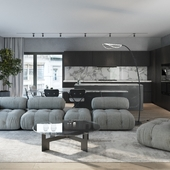 Concept Living room design & visualization & MoodY Animations