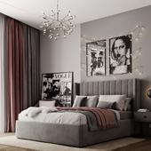 Визуализация спальни для молодой девушки