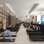 Visual image of fitness gym