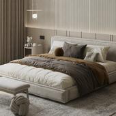 Comfy minimalistic bedroom
