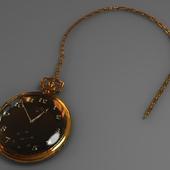 Золотые часы + Vray