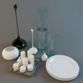 Vases, plates, candles