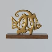 statuette of fish