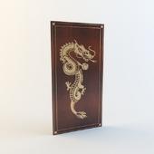 Панель с драконом