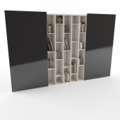 Раздвижной книжный шкаф.