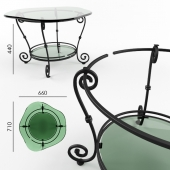 Wrought-iron table