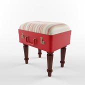 Banquette in a suitcase. Designer Kathy Thompson