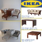 IKEA/ Eplaro.  Table, Couch, Stool.