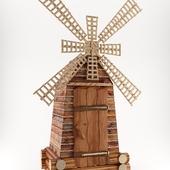 Wooden toilet-mill