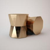 Faceted Ceramic Side Table