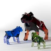 Dog figurine Murano glass