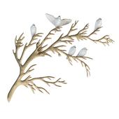 Bijan porcelain birds on branch brass