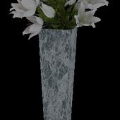 Ваза с лилиями