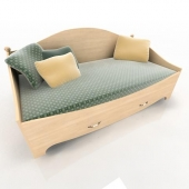 Bed with 1 box